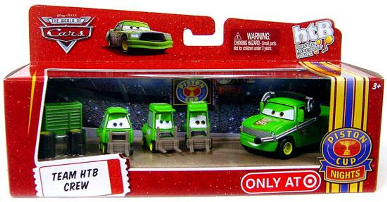Disney Cars The World of Cars Multi-Packs Team HTB Crew Exclusive Diecast Car Set