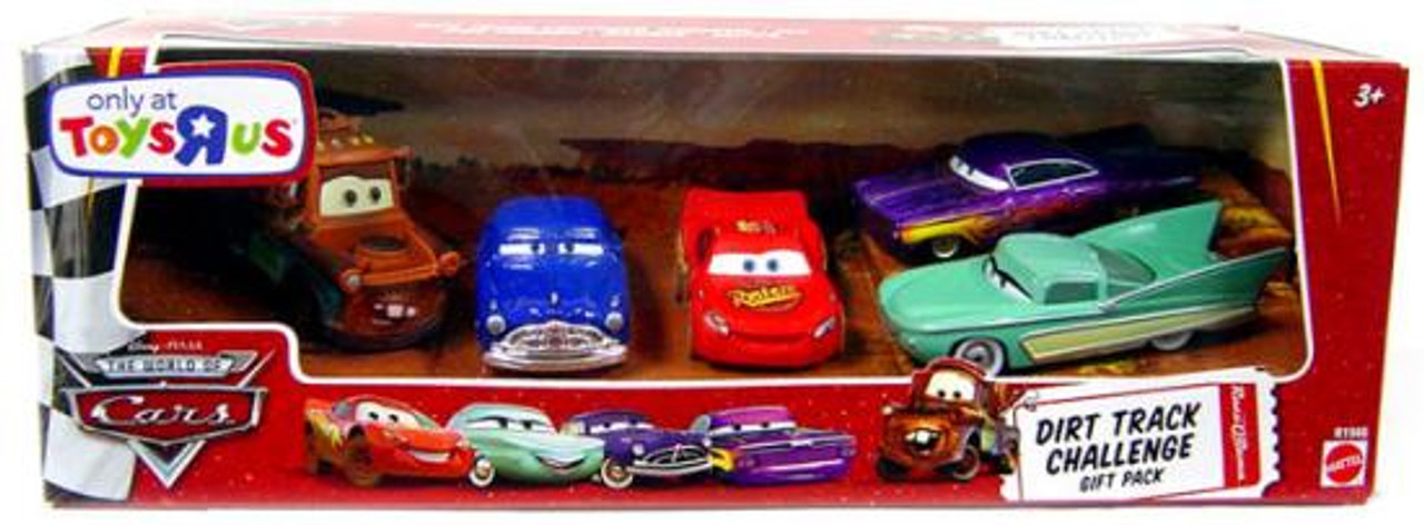 Disney Cars The World of Cars Dirt Track Challenge Gift Pack Exclusive Diecast Car Set