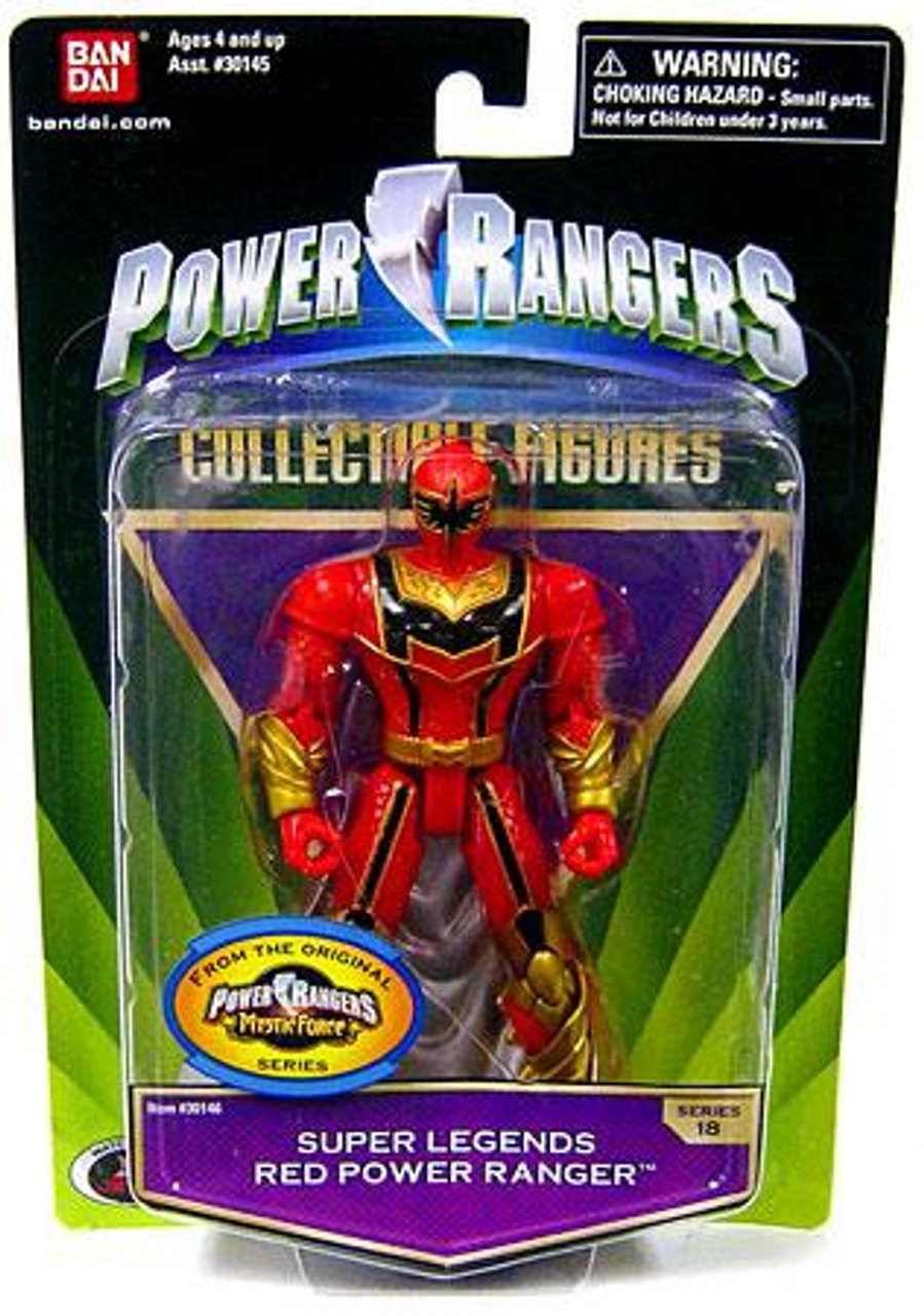 Power Rangers Mystic Force Collectible Figures Super Legends Red Power Ranger Action Figure