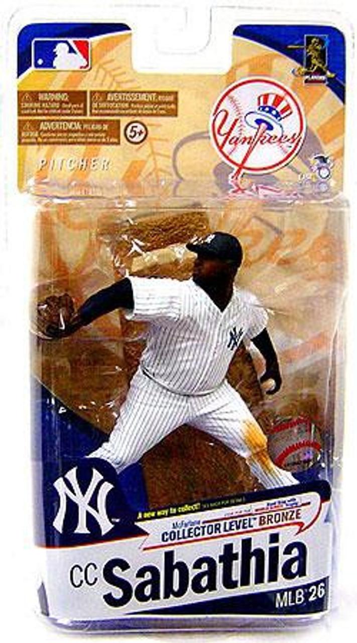 McFarlane Toys MLB New York Yankees Sports Picks Series 26 CC Sabathia Action Figure [White Jersey]