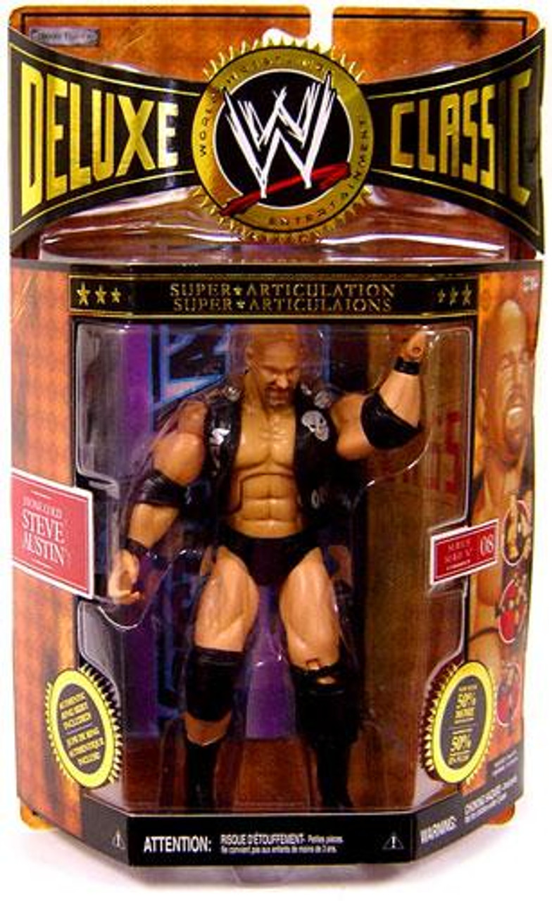 WWE Wrestling Deluxe Classic Superstars Series 8 Stone Cold Steve Austin Exclusive Action Figure