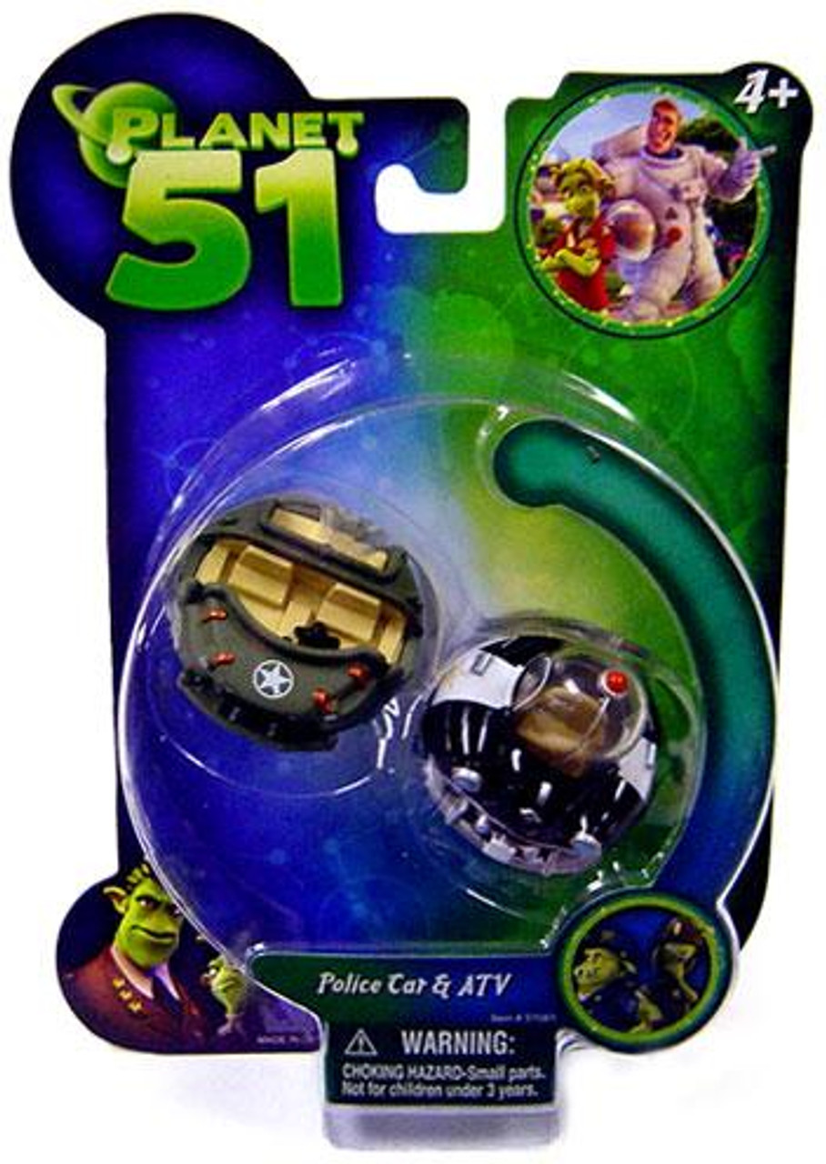 Planet 51 Police Car & ATV Mini Figure 2-Pack