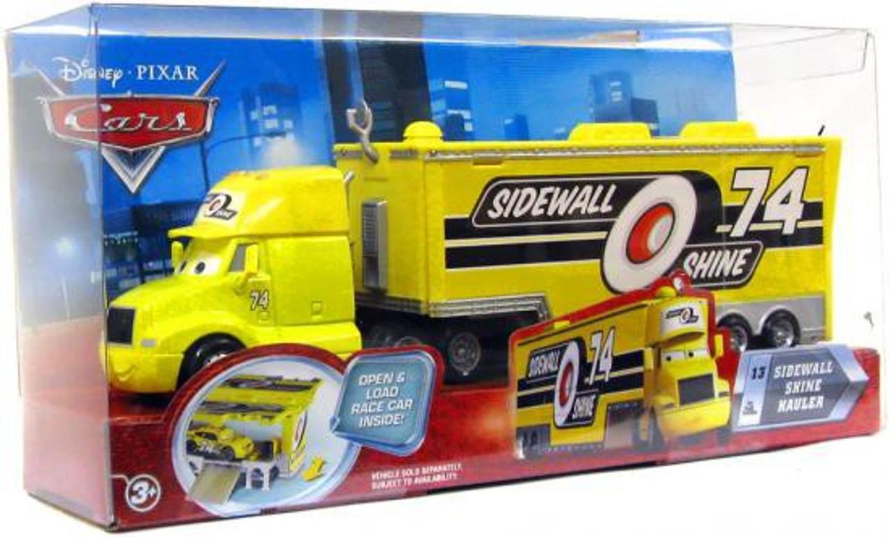 Disney Cars Movie Haulers Sidewall Shine Hauler Diecast Car Playset