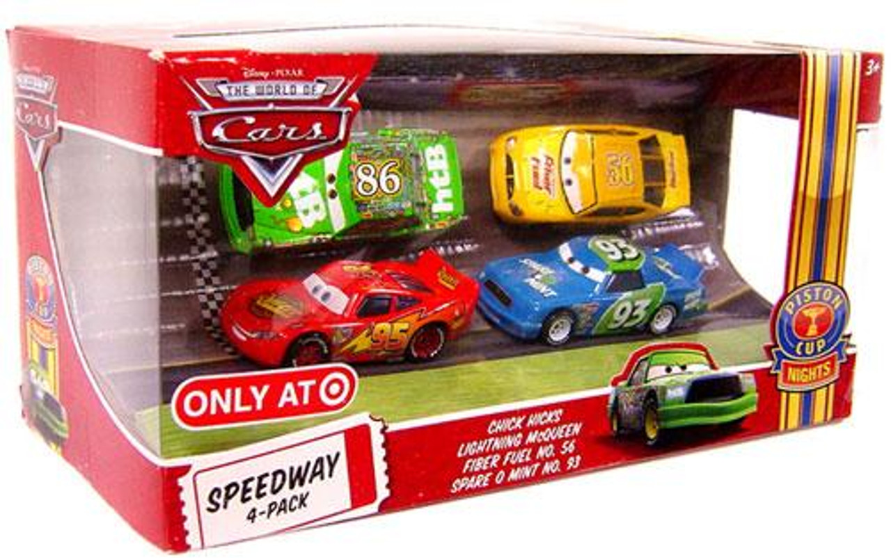 Disney Cars The World of Cars Multi-Packs Speedway 4-Pack Exclusive Diecast Car Set [Set #2]