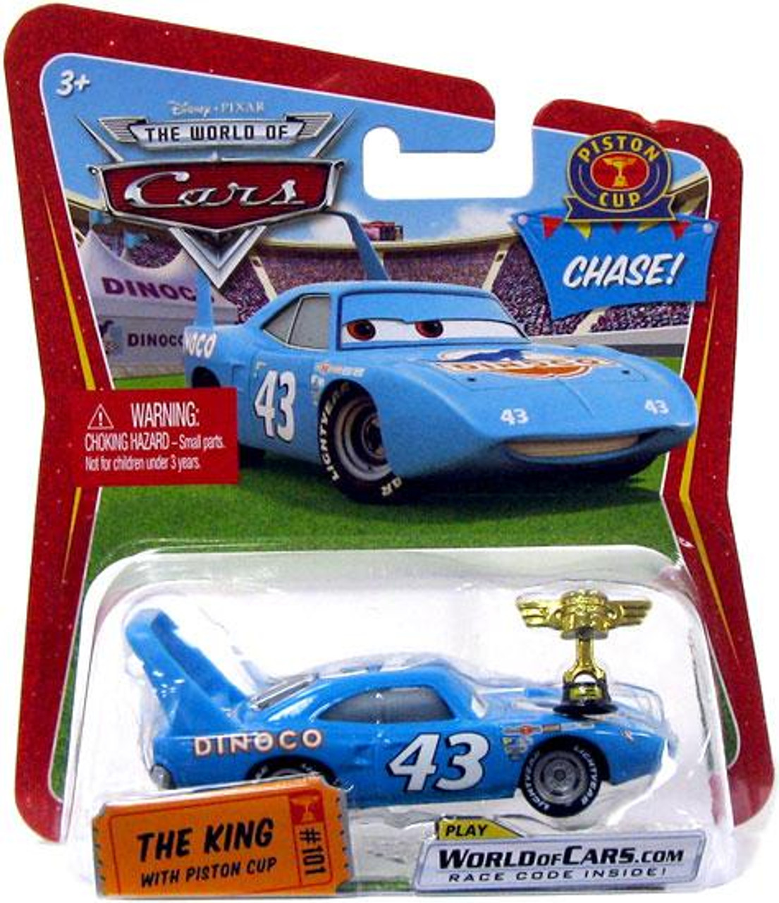 Disney Cars The World of Cars The King with Piston Cup Trophy Diecast Car