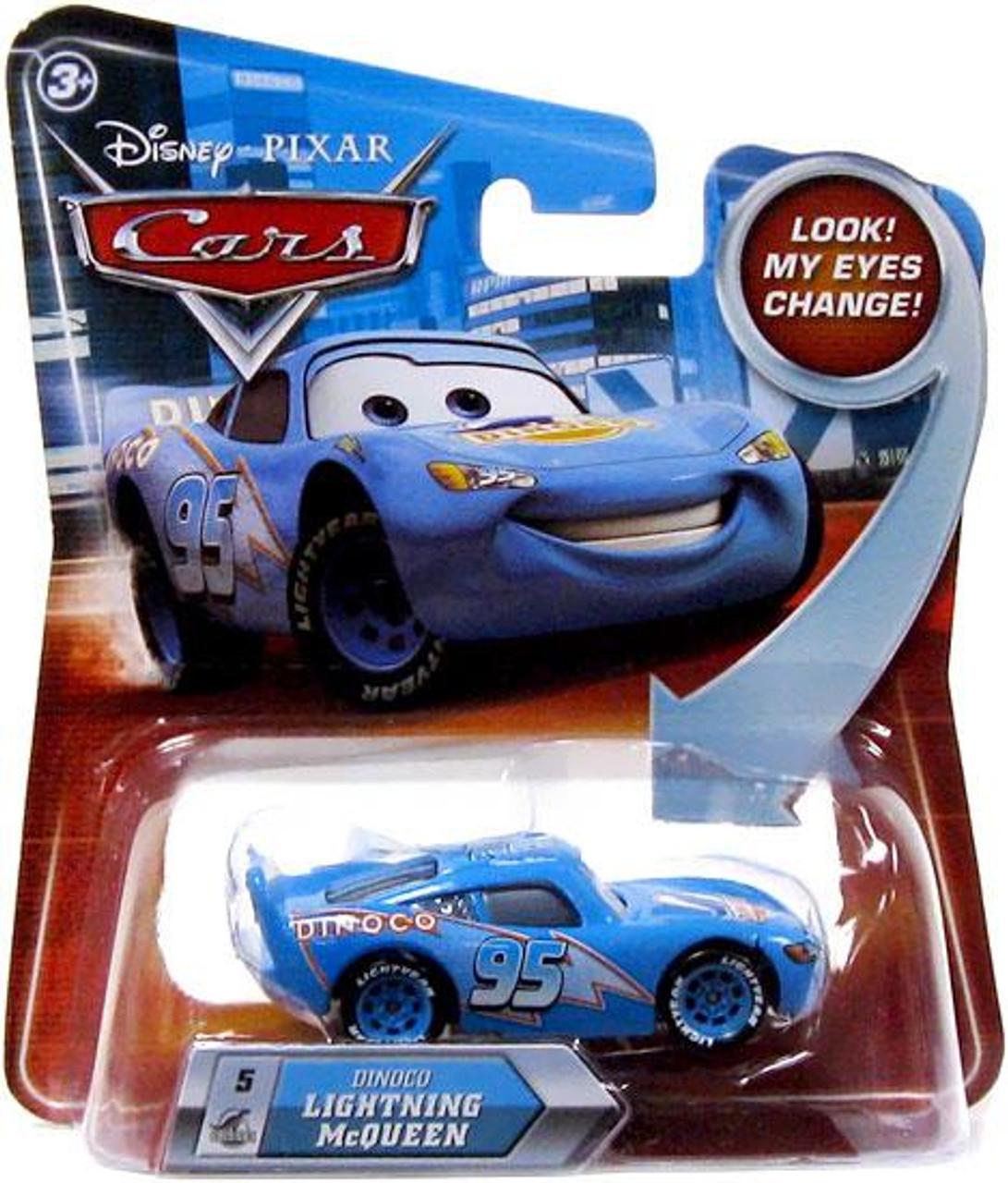 Disney Cars Lenticular Eyes Series 2 Dinoco Lightning McQueen Diecast Car