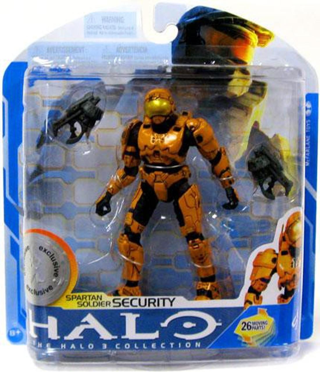 McFarlane Toys Halo 3 Series 7 Spartan Soldier Security Exclusive Action Figure [Orange]