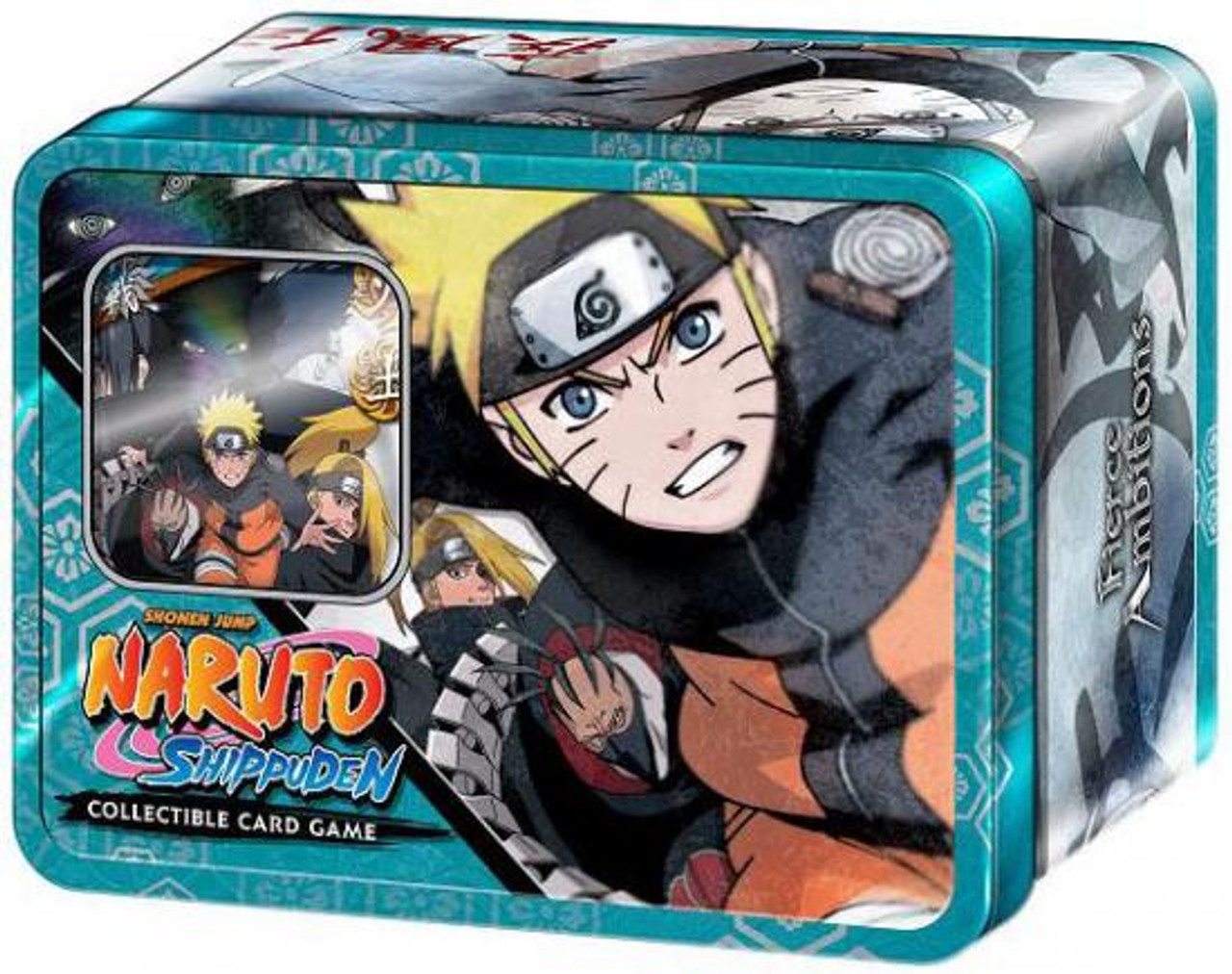 Shippuden Card Game Fierce Ambitions Naruto Vs. Akatsuki Collector Tin