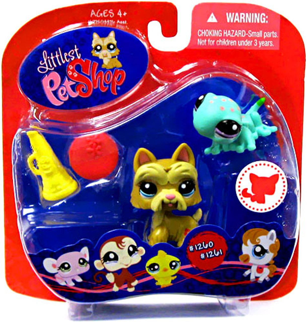 Littlest Pet Shop Pet Pairs Scotty Dog & Gecko Exclusive Figure 2 Pack