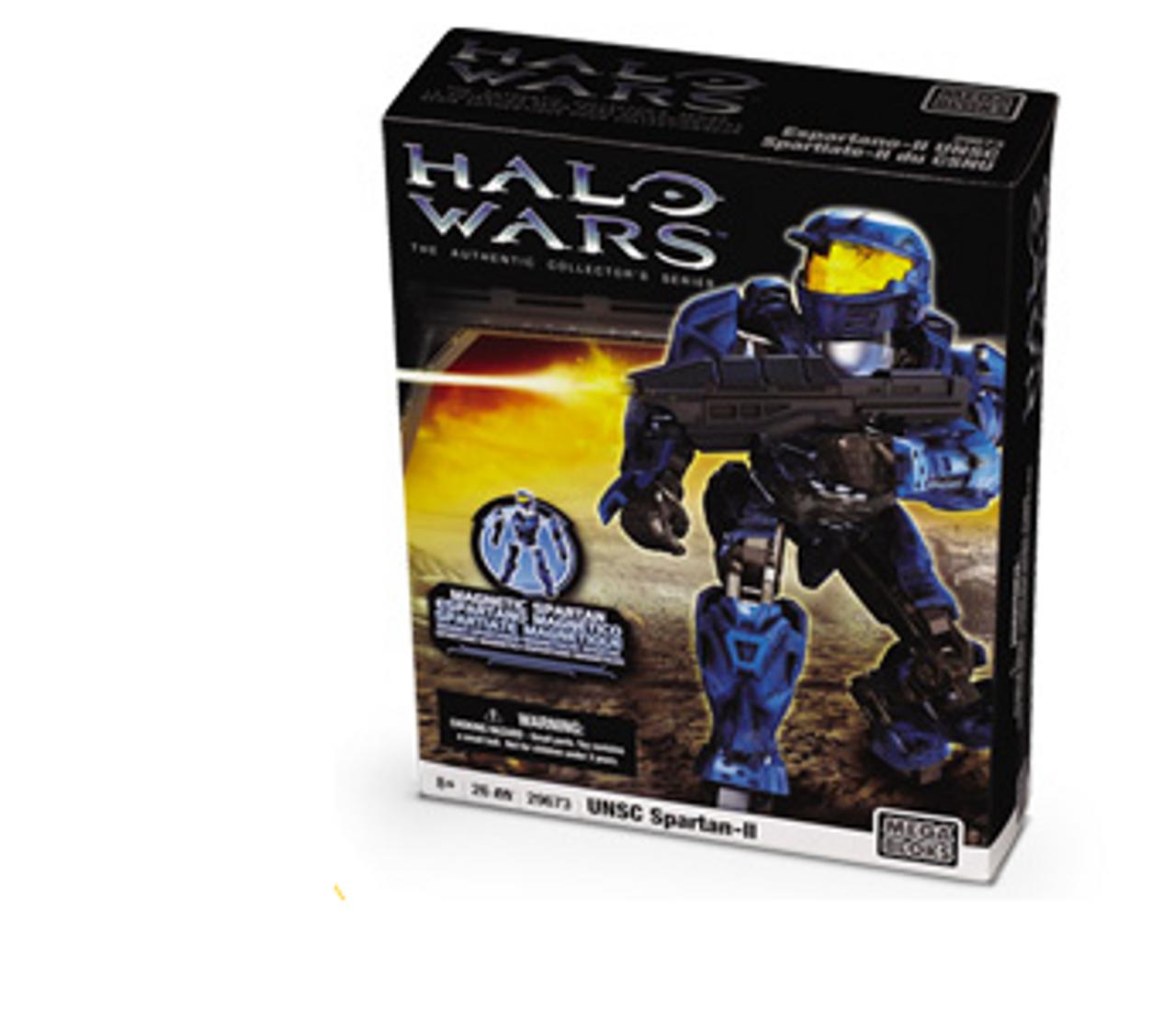 Mega Bloks Halo Magnetic Figures UNSC Spartan-II Set #29673 [Blue]