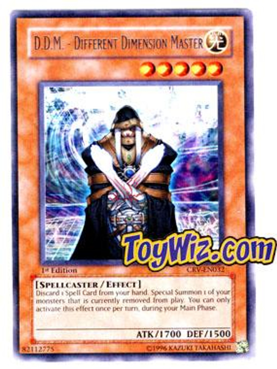 YuGiOh Cybernetic Revolution Rare D.D.M - Different Dimension Master CRV-EN032