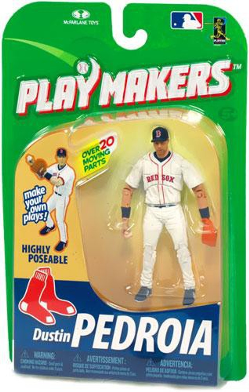 McFarlane Toys MLB Boston Red Sox Playmakers Series 1 Dustin Pedroia Action Figure [Fielding]
