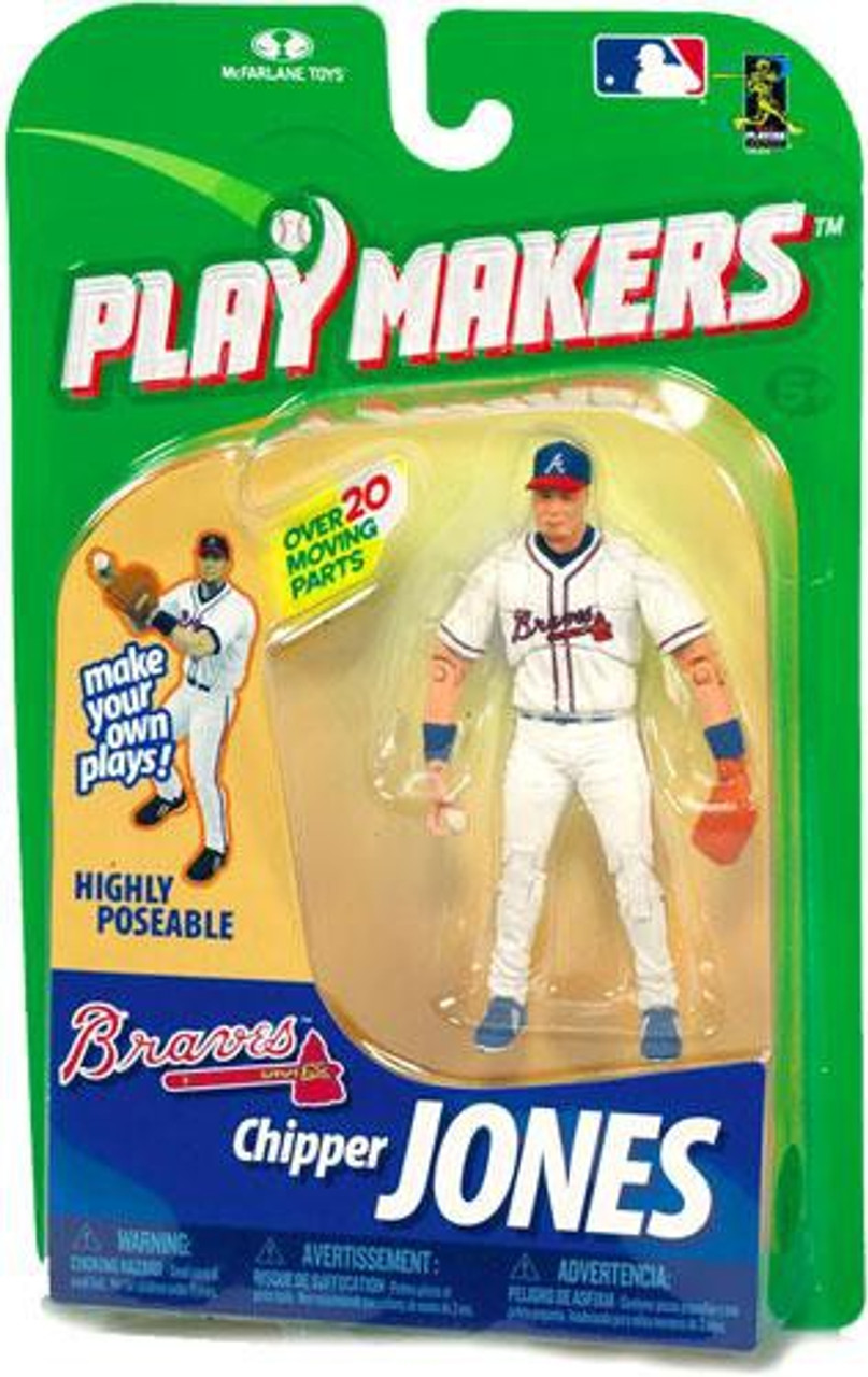 McFarlane Toys MLB Atlanta Braves Playmakers Series 1 Chipper Jones Action Figure [Fielding]