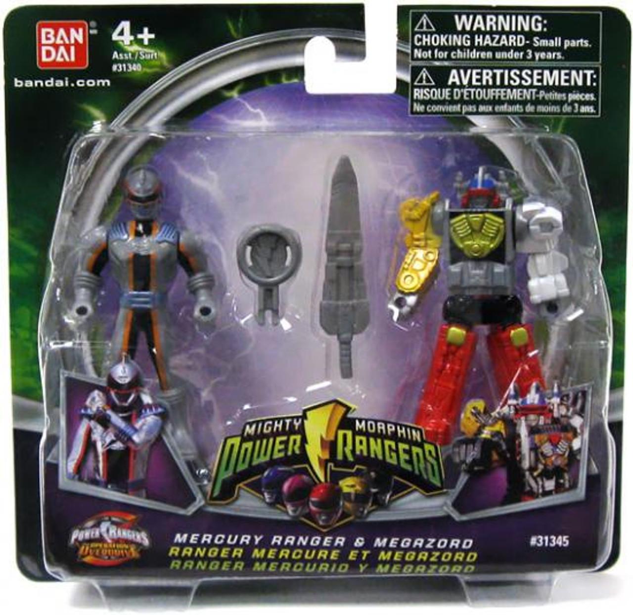 Power Rangers Mighty Morphin (2009) Mercury Ranger & Megazord Action Figure 2-Pack