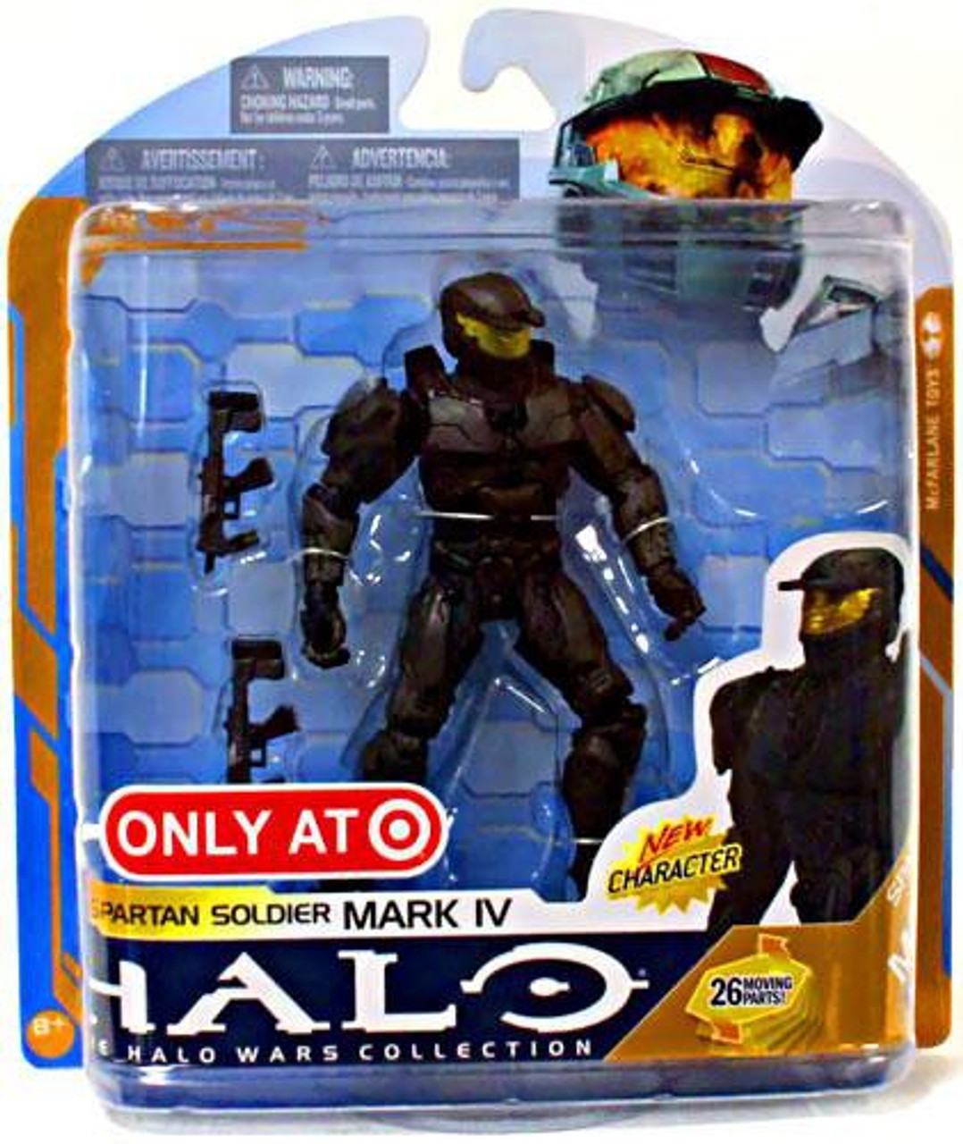 McFarlane Toys Halo Wars Series 8 Spartan Soldier Mark IV Exclusive Action Figure [Black]