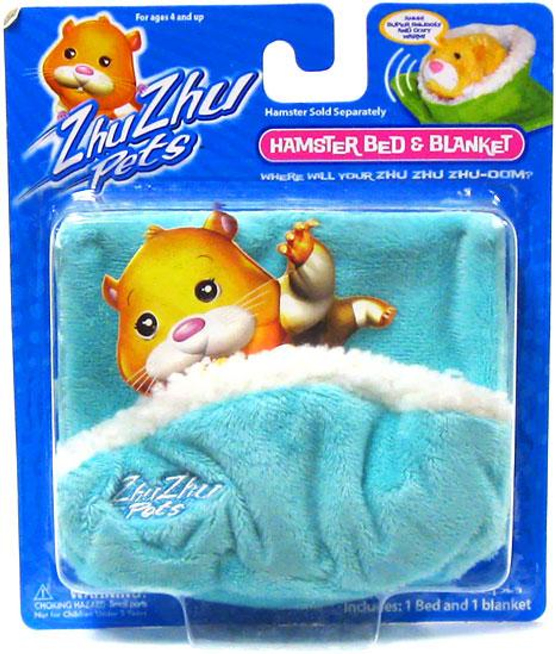 Zhu Zhu Pets Hamster Bed & Blanket Accessory Set [Turquoise]