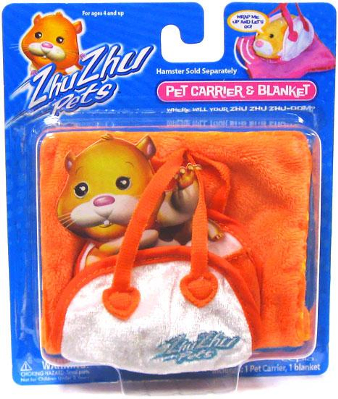 Zhu Zhu Pets Pet Carrier & Blanket Accessory Set [Orange]