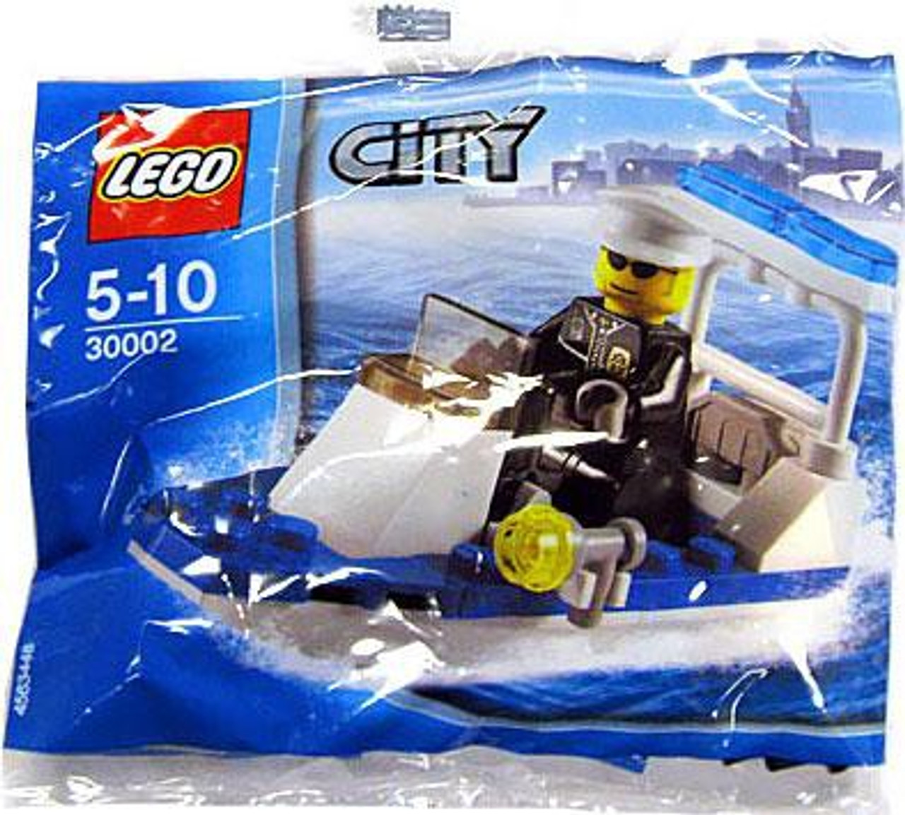 LEGO City Police Boat Exclusive Mini Set #30002 [Bagged]