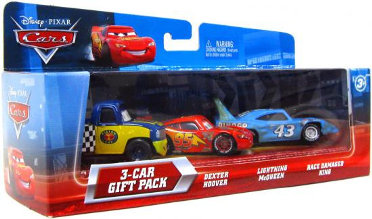 Disney Cars Race Damaged King 3-Car Gift Pack Diecast Car Set