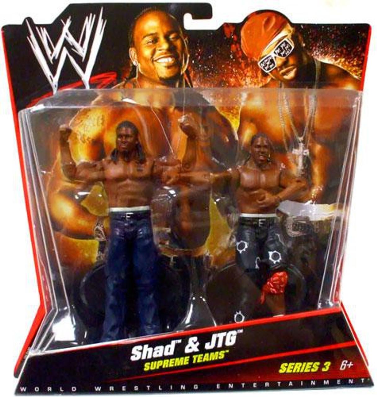 WWE Wrestling Series 3 Shad & JTG Action Figure 2-Pack