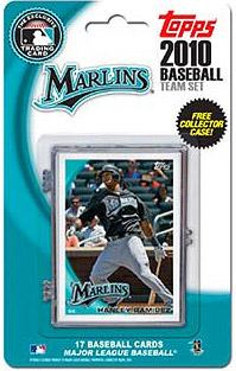 MLB 2010 Topps Baseball Cards Florida Marlins Exclusive Team Set