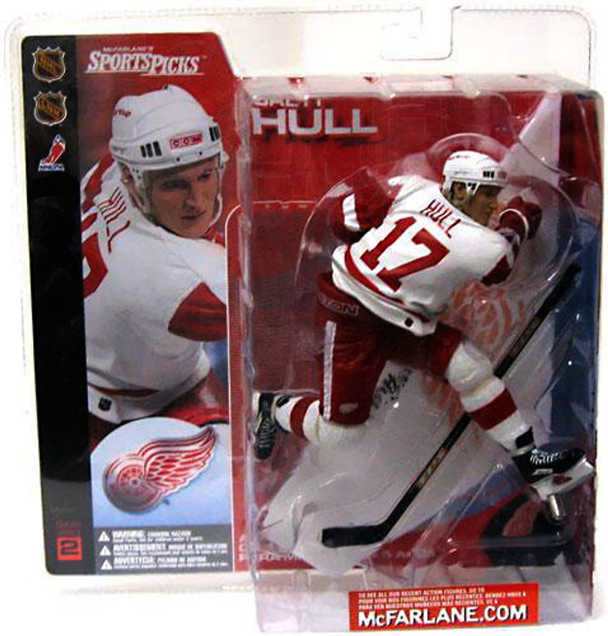 McFarlane Toys NHL Detroit Red Wings Sports Picks Series 2 Brett Hull Action Figure