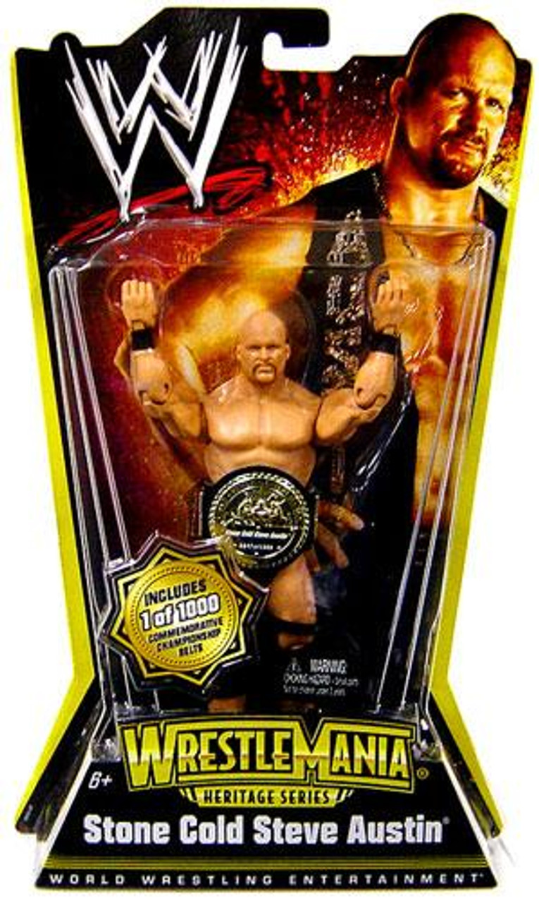 WWE Wrestling WrestleMania Heritage Series 1 Stone Cold Steve Austin Action Figure [With Belt]