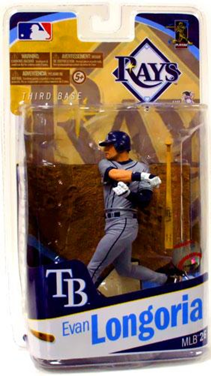 McFarlane Toys MLB Sports Picks Series 26 Evan Longoria (Tampa Bay Rays) Action Figure [Gray Jersey Variant]