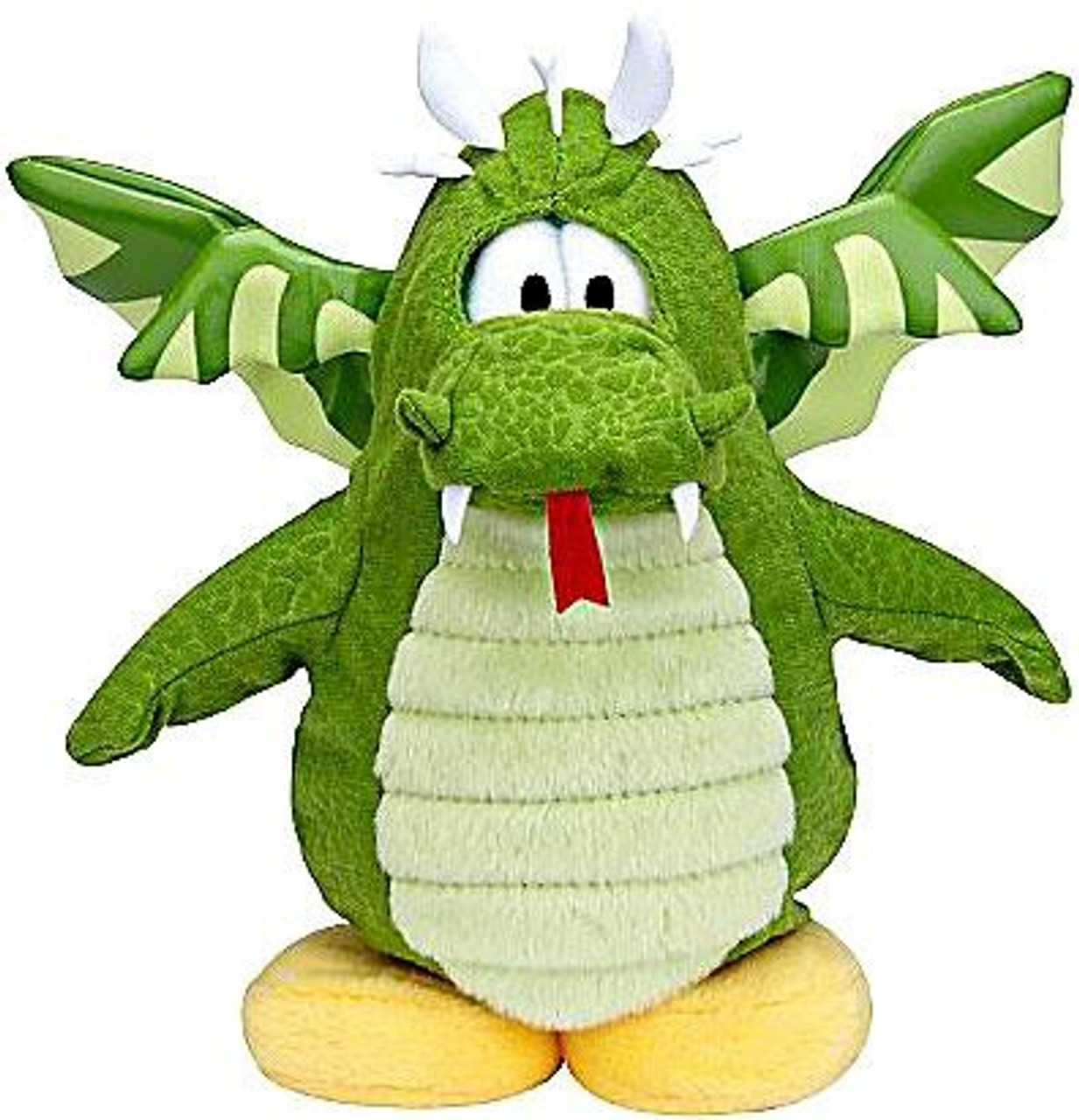 Club Penguin Series 6 Green Dragon 6.5-Inch Plush Figure [Version 2]