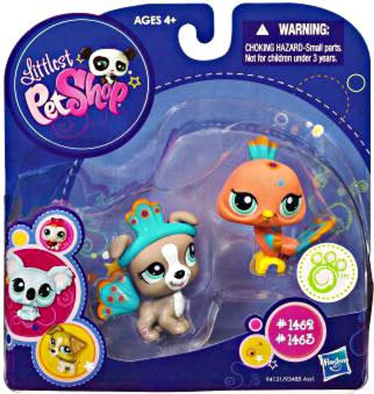 Littlest Pet Shop 2010 Assortment B Series 3 Peacock & Pitbull Figure 2-Pack #1462, 1463