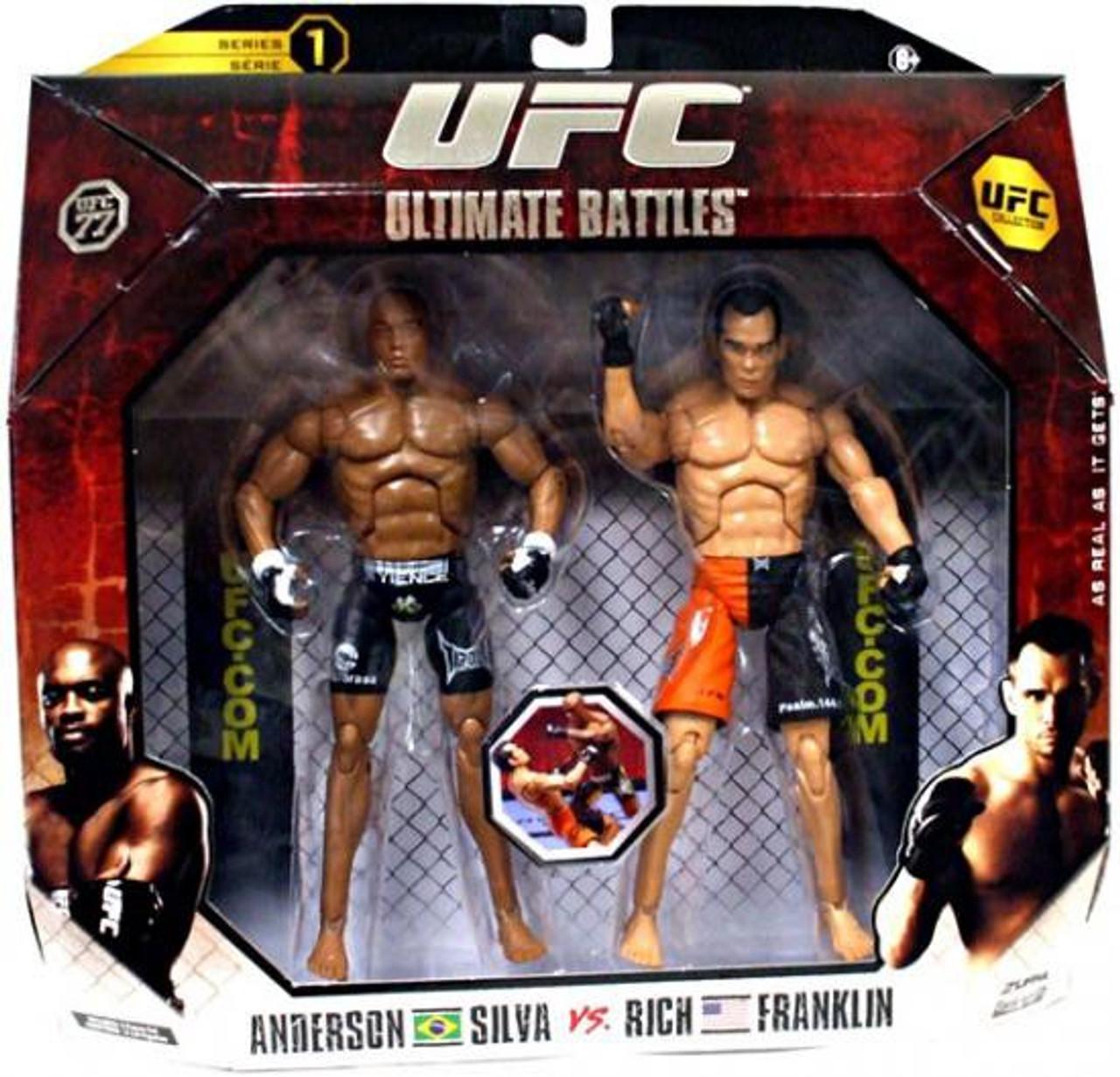 UFC Collection Series 1 Anderson Silva vs. Rich Franklin Action Figure 2-Pack [UFC 77]