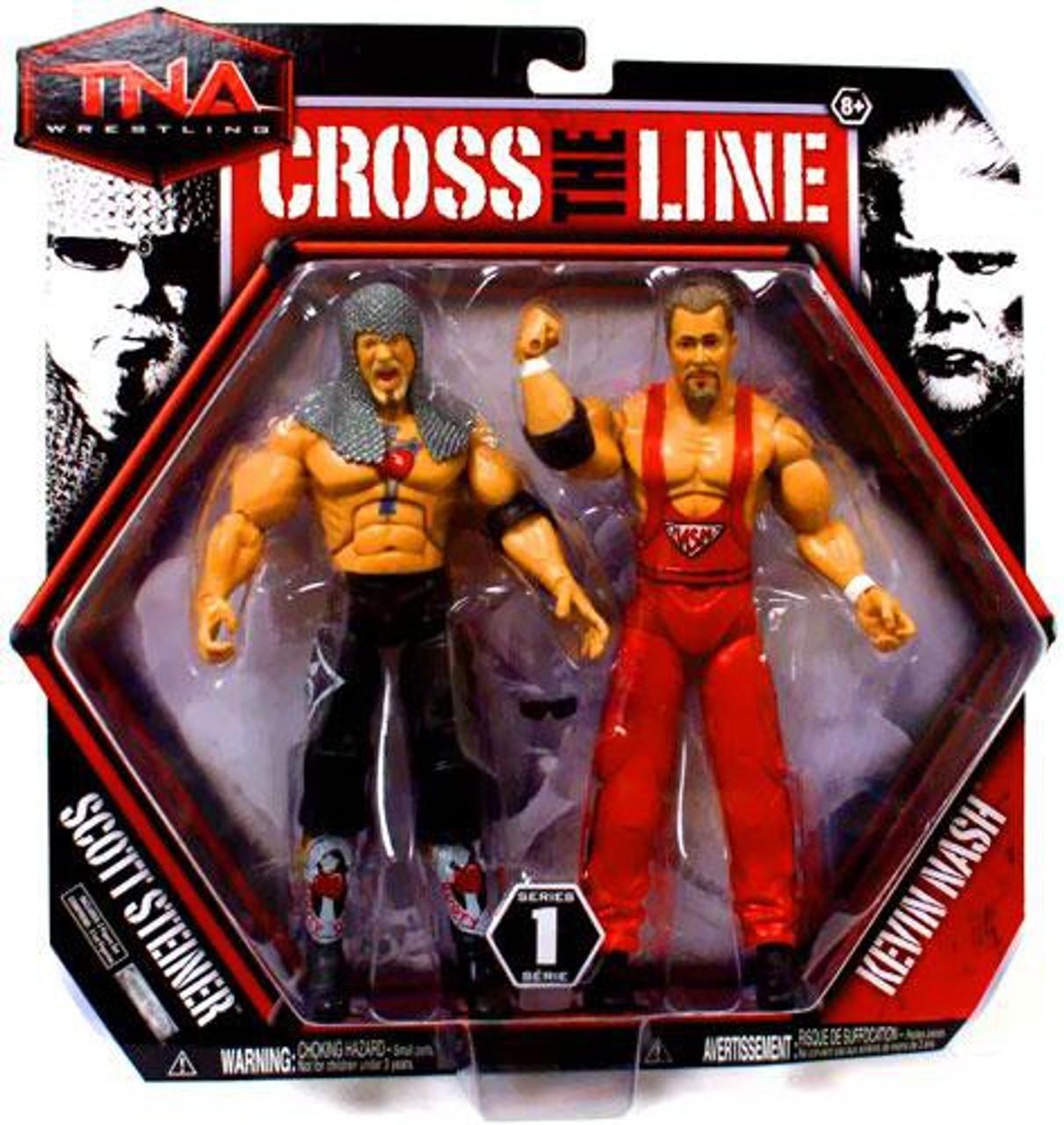 TNA Wrestling Cross the Line Series 1 Scott Steiner & Kevin Nash Action Figure 2-Pack
