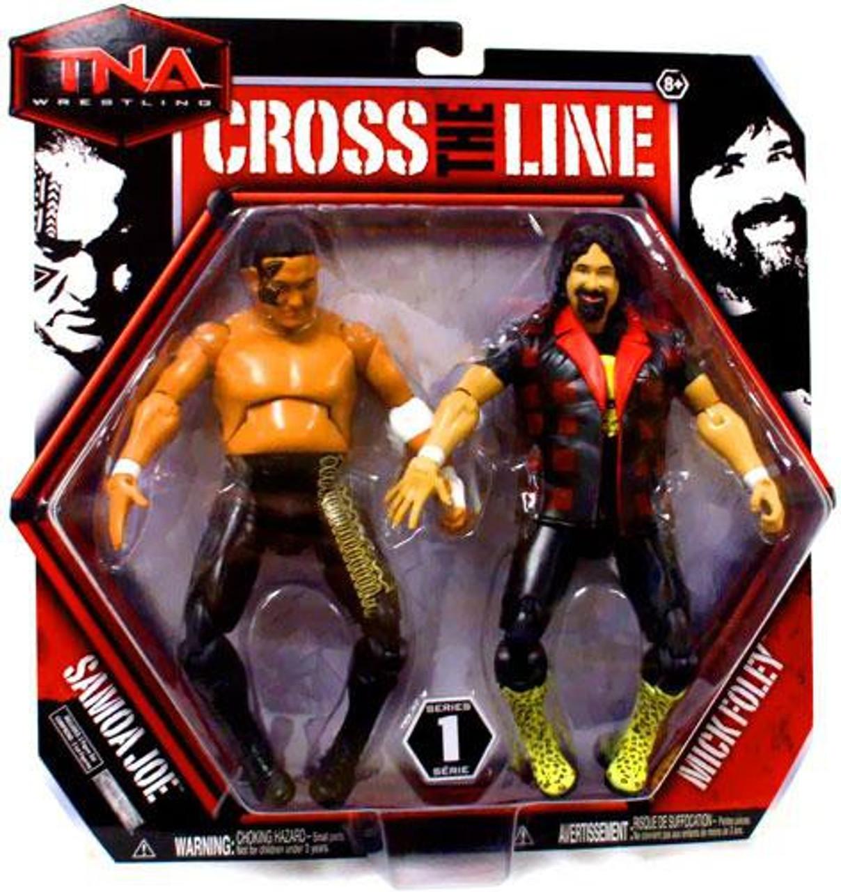 TNA Wrestling Cross the Line Series 1 Samoa Joe & Mick Foley Action Figure 2-Pack