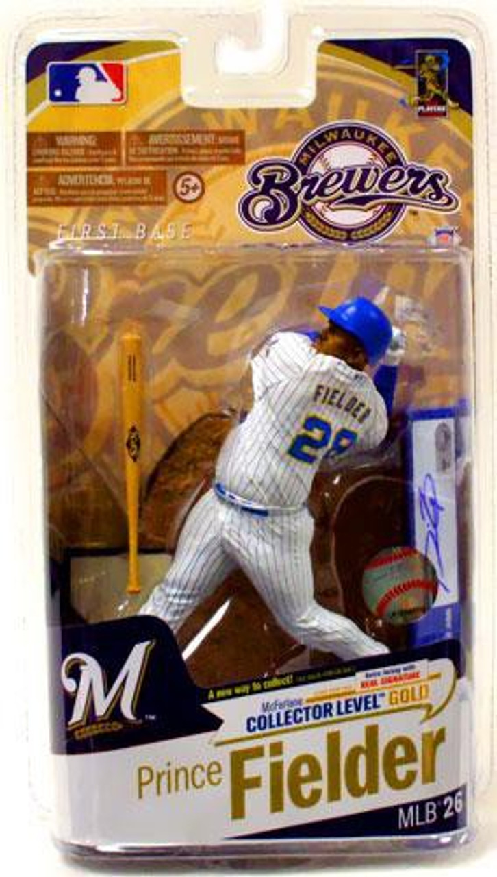 McFarlane Toys MLB Milwaukee Brewers Sports Picks Series 26 Prince Fielder Action Figure [White Jersey with Signature]