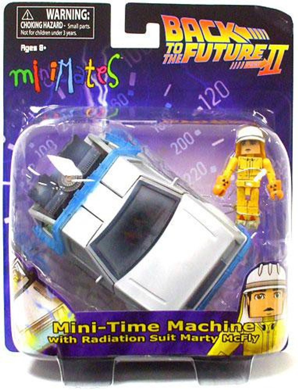 Back to the Future Part II MiniMates Mini-Time Machine Vehicle [Radiation Suit Marty McFly]