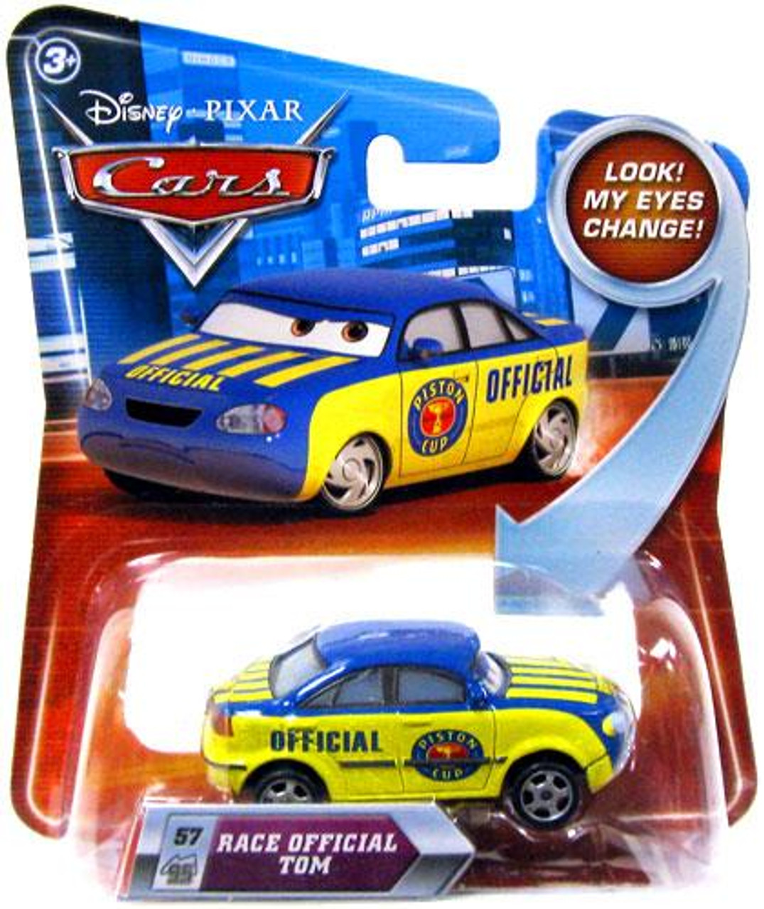 Disney Cars Lenticular Eyes Series 2 Race Official Tom Diecast Car