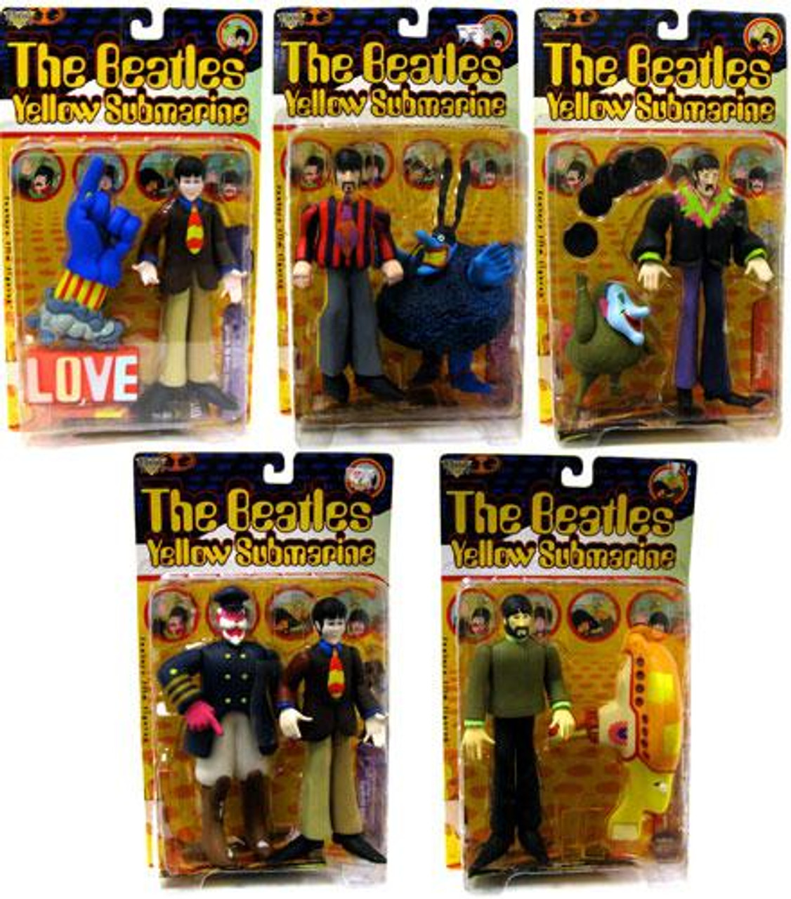 McFarlane Toys The Beatles Yellow Submarine Series 1 Set of 5 Action Figures