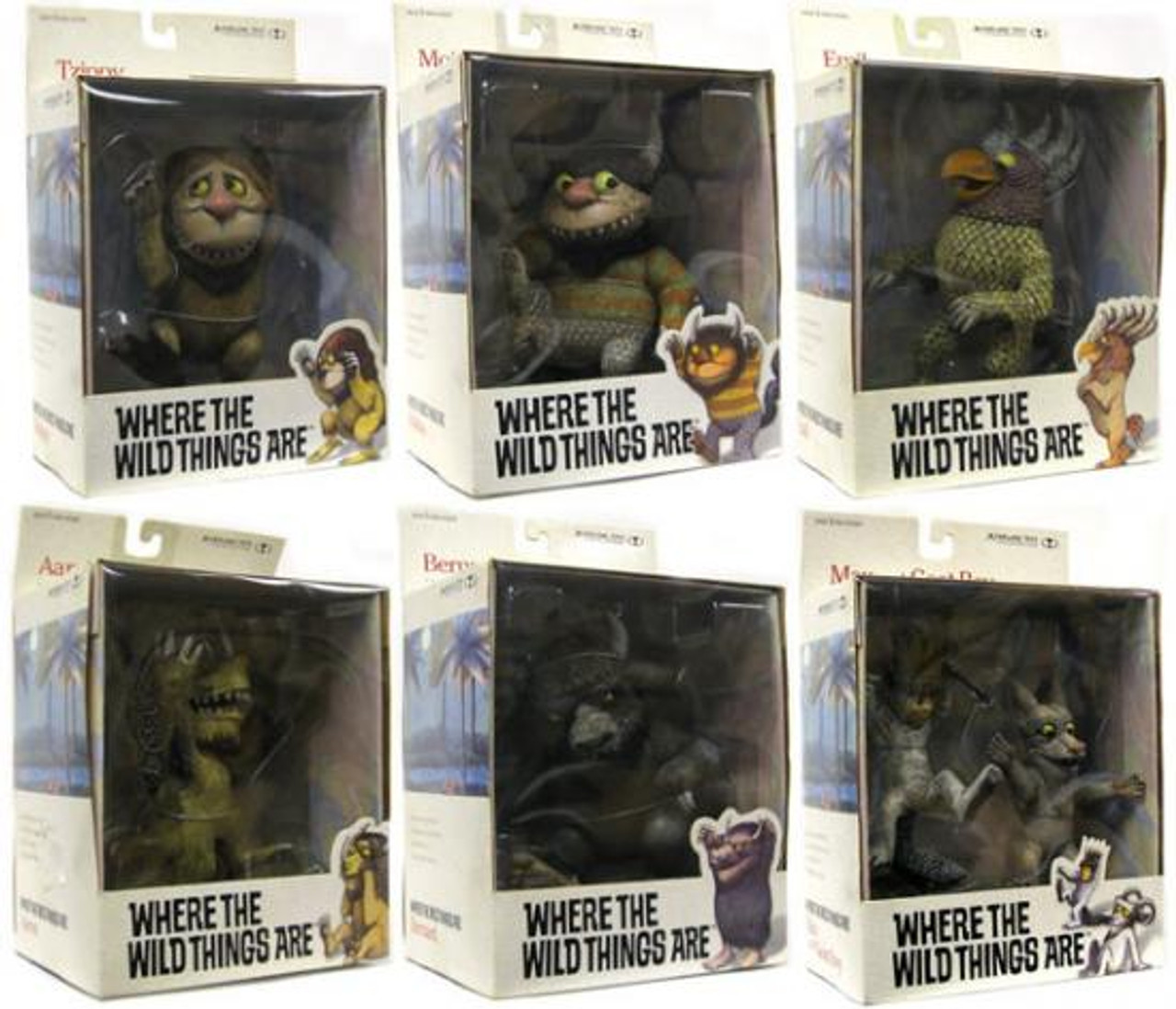 McFarlane Toys Where the Wild Things Are Set of 6 Action Figures
