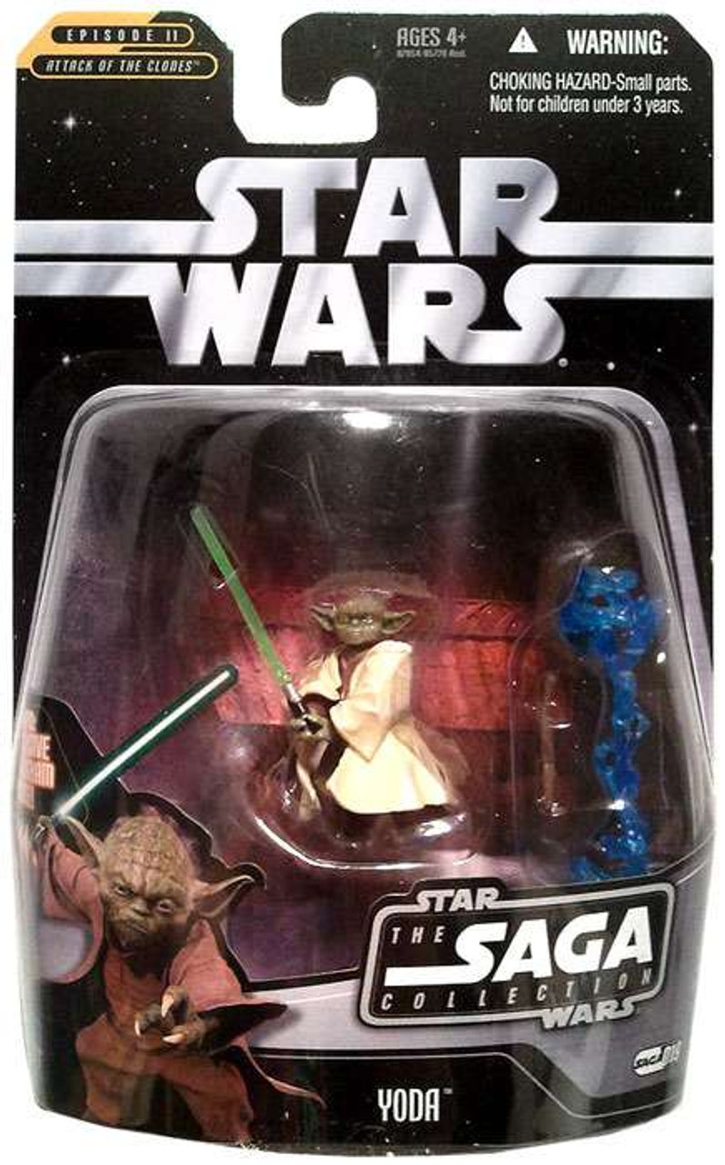 Star Wars Attack of the Clones Saga Collection 2006 Yoda Action Figure #19