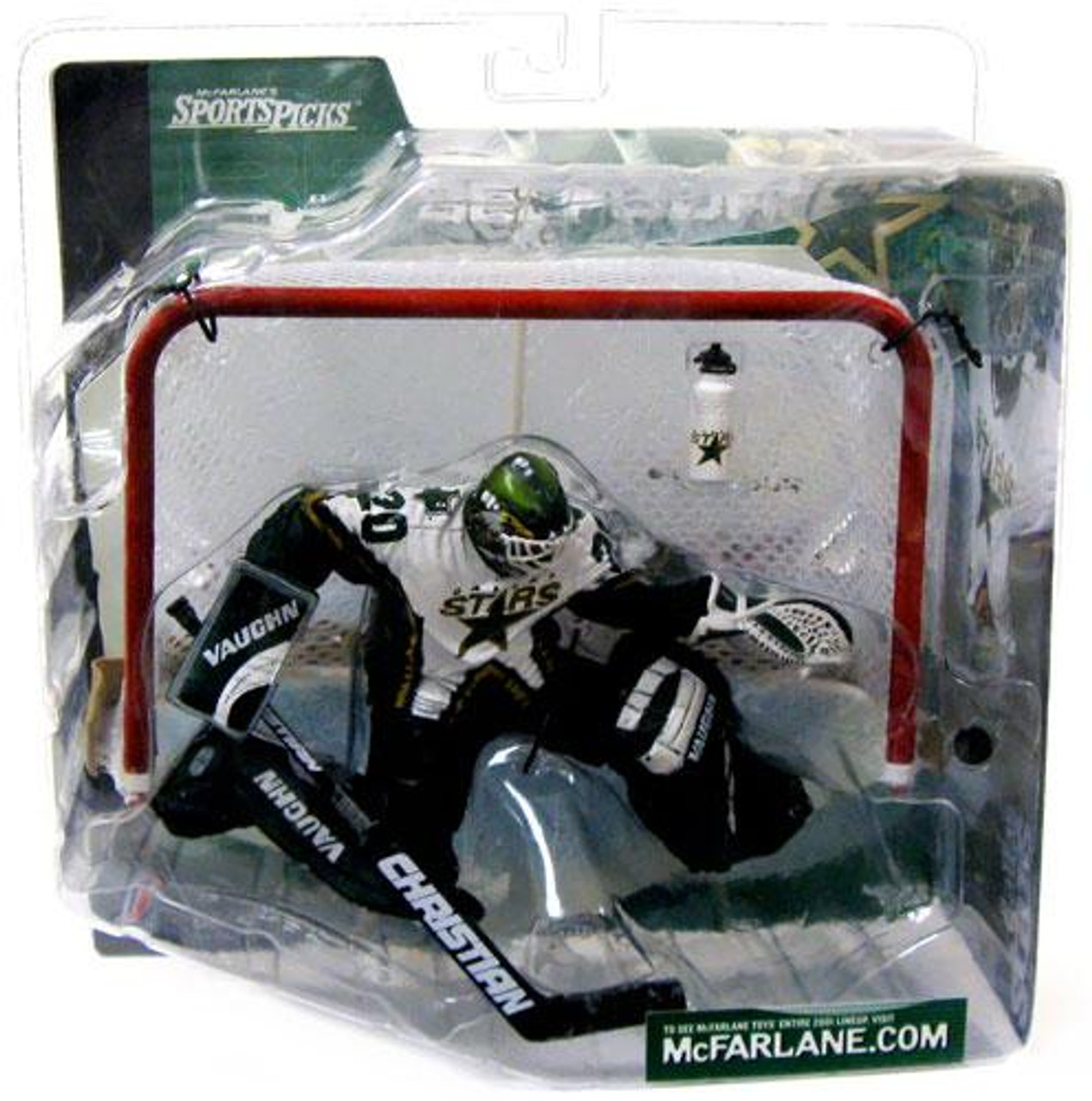 McFarlane Toys NHL Dallas Stars Sports Picks Series 1 Ed Belfour Action Figure [Logo on Water Bottle]