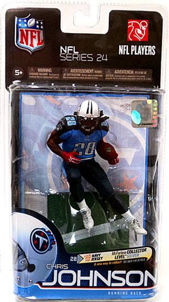 McFarlane Toys NFL Tennessee Titans Sports Picks Series 24 Chris Johnson Action Figure [Light Blue Jersey]