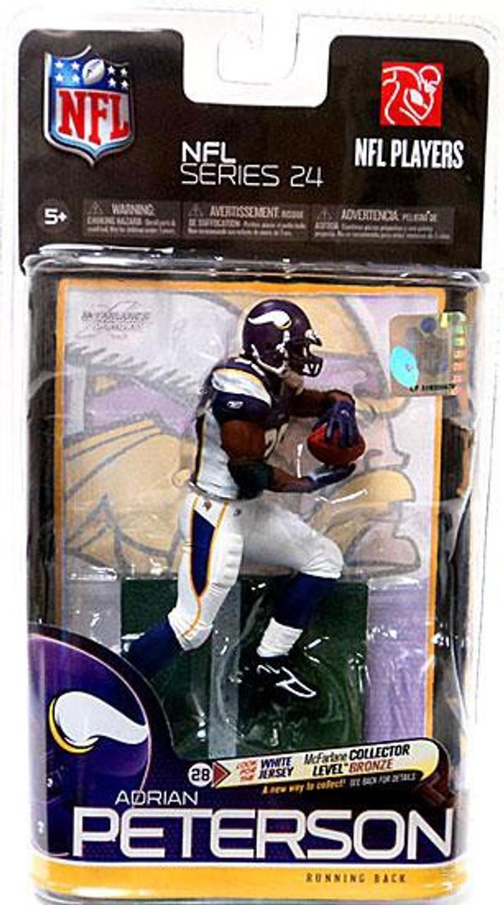 McFarlane Toys NFL Minnesota Vikings Sports Picks Series 24 Adrian Peterson Action Figure [Purple Jersey]