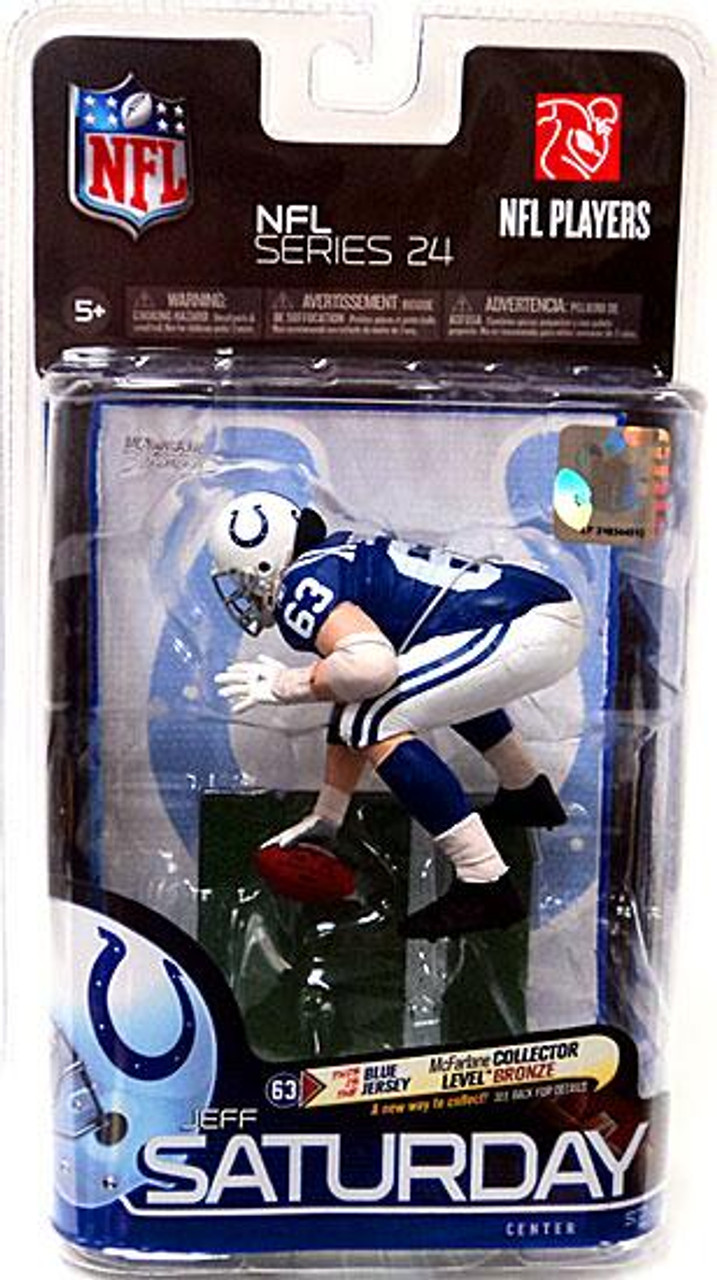 McFarlane Toys NFL Indianapolis Colts Sports Picks Series 24 Jeff Saturday Action Figure [Blue Jersey Bronze]