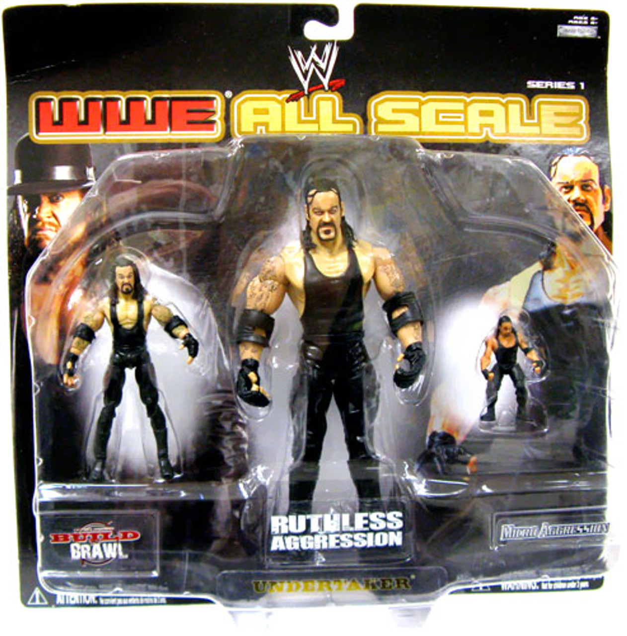 WWE Wrestling All Scale Series 1 Undertaker Action Figure 3-Pack