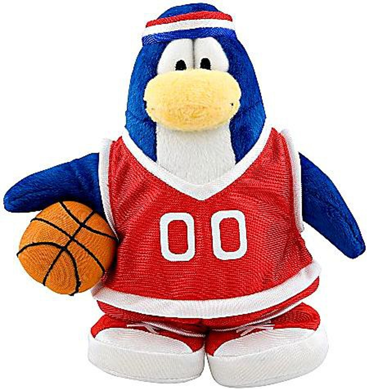 Club Penguin Series 7 Basketball Player 6.5-Inch Plush Figure [Red Uniform]