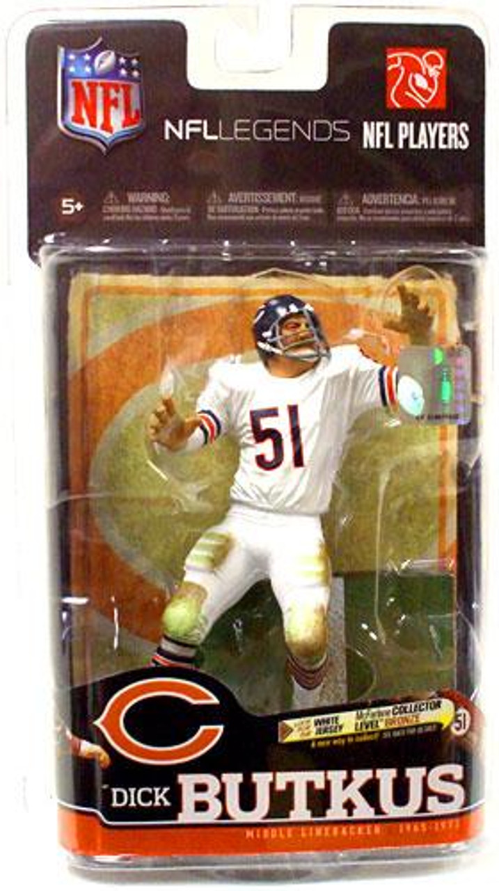 McFarlane Toys NFL Chicago Bears Sports Picks Legends Series 6 Dick Butkus Action Figure [White Jersey]