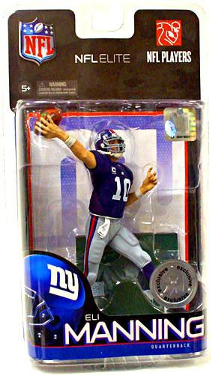 McFarlane Toys NFL New York Giants Sports Picks Elite Series 1 Eli Manning Exclusive Action Figure [Blue Jersey]