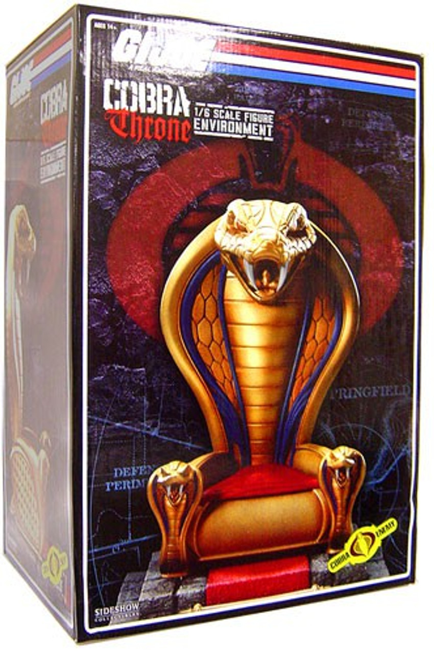 GI Joe Cobra Enemy Cobra Throne 1/6 Collectible Figure Environment