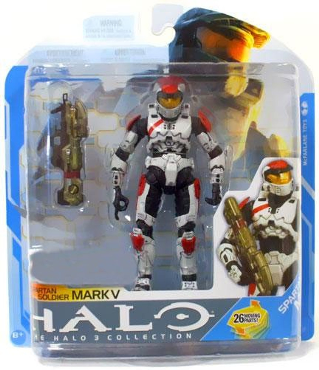 McFarlane Toys Halo 3 Series 7 Spartan Soldier Mark V Exclusive Action Figure [White]