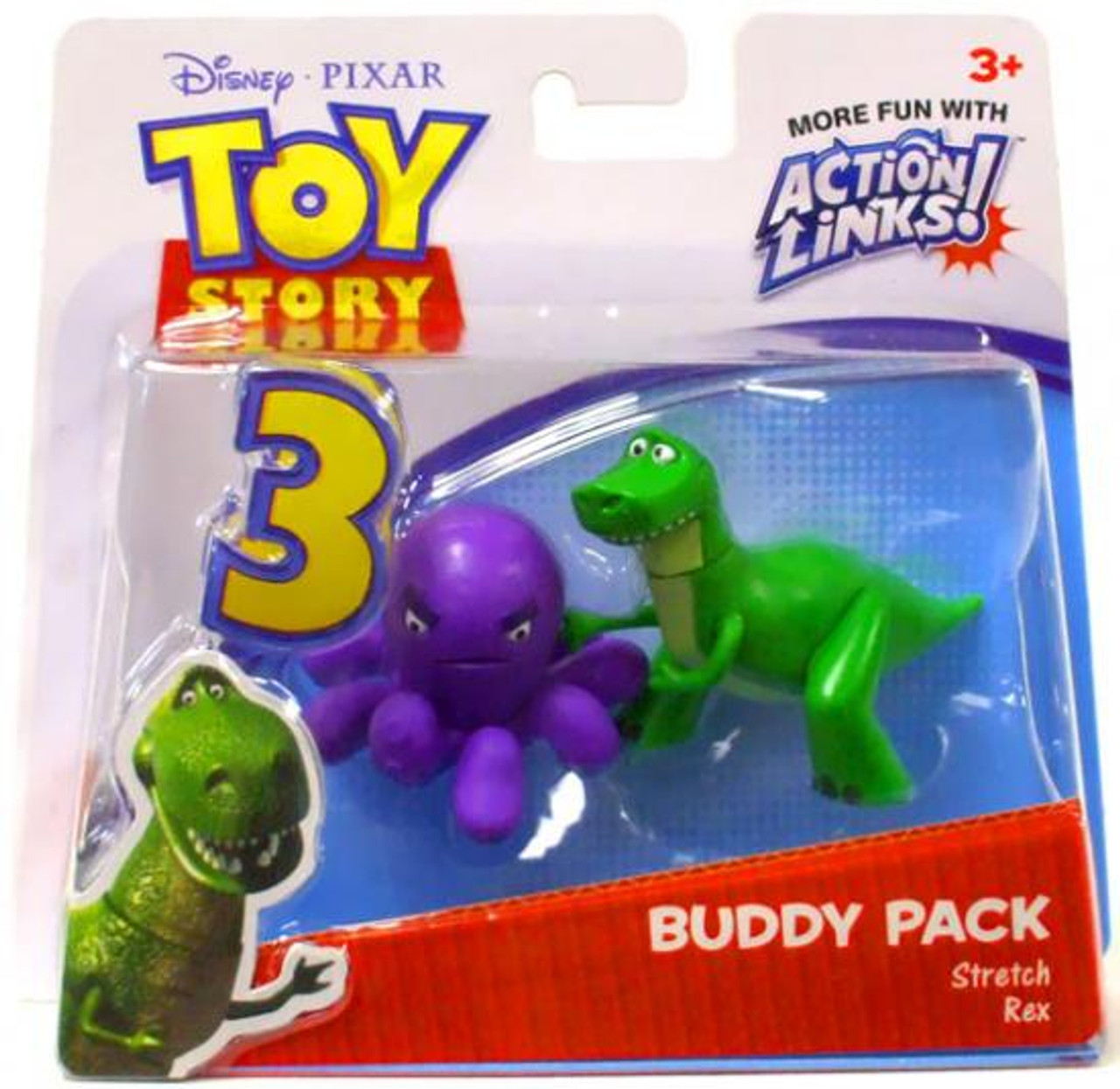 Toy Story 3 Action Links Buddy Pack Stretch & Rex Mini Figure 2-Pack